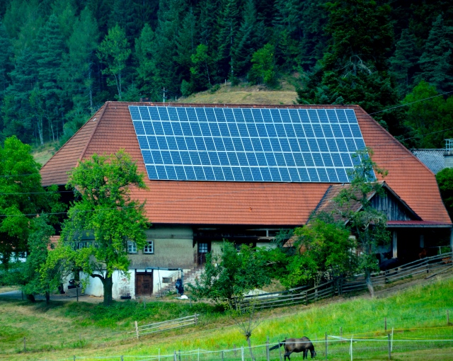 Solar energy panels were all over the homes we saw in the Black Forest. ©Jean Janssen