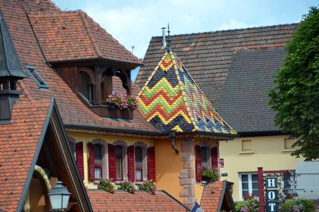 Loved this tiled roof in the Alsatian region of France ©Jean Janssen