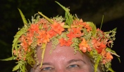 The headdress given to me was in one of my favorite colors. I enjoyed wearing flowers all week long.