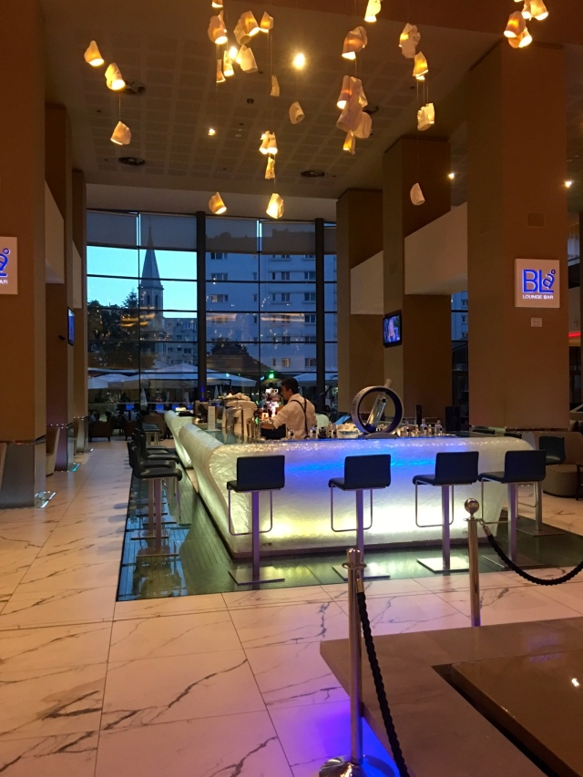 Photo CJean Janssen Bar In The Radisson Blu On Calea Victoriei Bucharest It Looks Like A Giant Ice Cube Glass Floor Has Water Jets Underneath