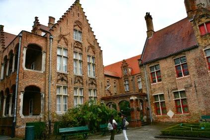 Photo ©Jean Janssen. The courtyards of St. John's Hospital Bruges, Belgium