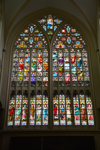 Photo ©Jean Janssen. Stained Glass in St. Salvator Cathedral